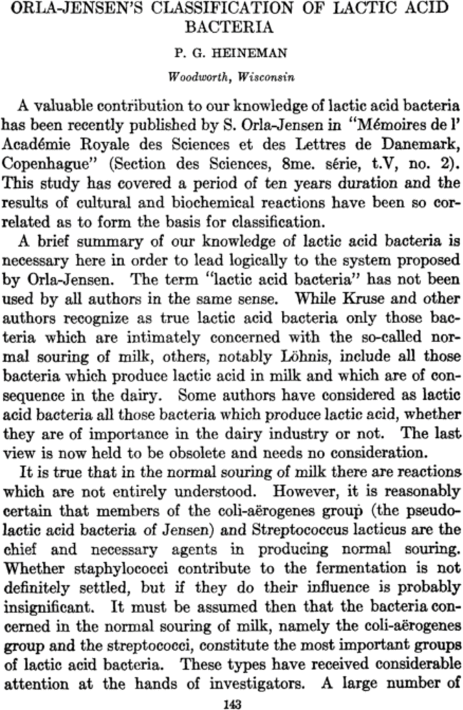 orla-jensen u0026 39 s classification of lactic acid bacteria